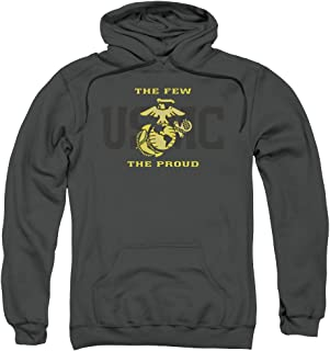 US Marine Corps Split Tag Unisex Adult Pull-Over Hoodie for Men and Women