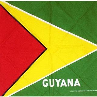ONE Guyana flag,FLAG Guyanese Bandana LARGE SIZE: 22 X 22