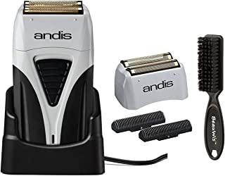 Andis ProFoil Lithium Plus Titanium Foil Shaver with Bonus Replacement Foil Assembly and..