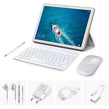 Tablette Tactile Pas Cher 10.1 pouces HD 4G Double Carte SIM Standard(3Go RAM+32Go Rom, Dual Cameras , Quad core) avec Accessories,TEENO