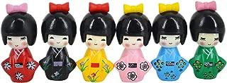Aisi 6 PCS Cute Japanese Kimono Girls Dolls Miniature Ornament Kit Kids Toy Birthday Christmas Home Decoration