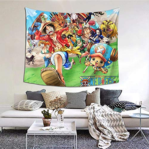 One Piece Tapiz De Anime Tapiz Colgante De Pared Decoración Habitación Telón De Fondo Cartel Moda Arte Decoración Del Hogar 150x130cm