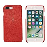 """Trop Saint Luxury Case for iPhone 8 Plus and 7 Plus (5,5)"""" Hand Made from Genuine Stingray Fish…"""
