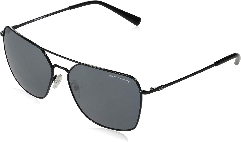AX Armani Exchange Men's Ax2029s Metal Square Sunglasses