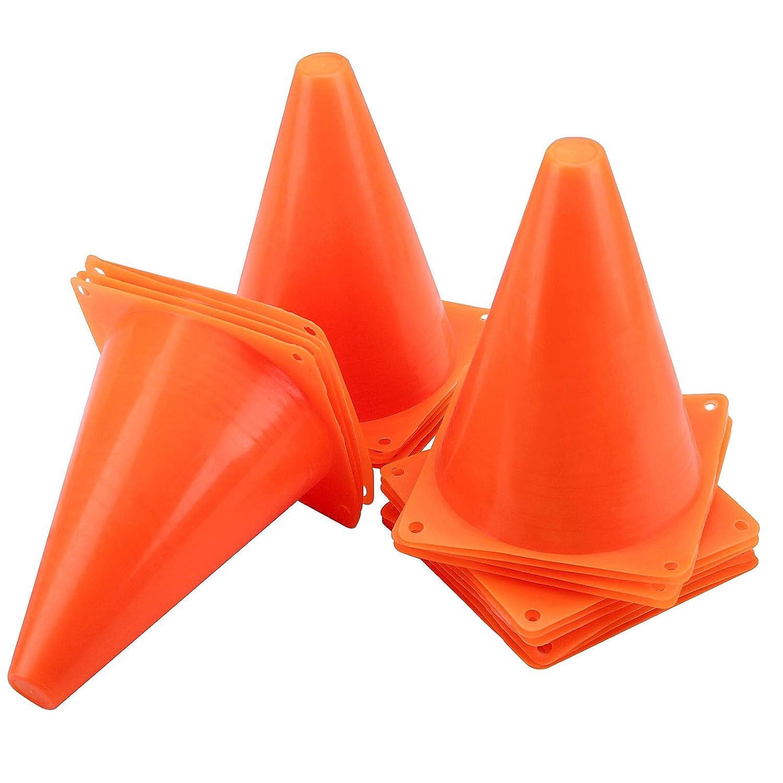 HOZEON 40 Pack 7 Inches Plastic Soccer Houston Mall Orange Training 55% OFF Fo Cones