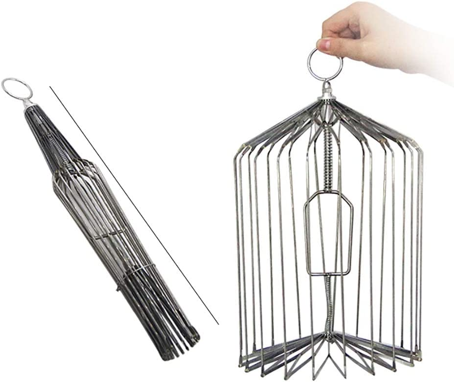 ZQION Magic Super intense SALE Bird Cage-Silver Tri Cage Appearing Mail order Steel