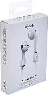 Keybudz AirStrapz uchwyt na pasek mocujący, przechowywanie do Apple AirPods Pro i AirPods, słuchawki douszne, akcesoria, b...