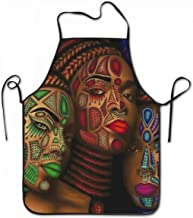 SARA NELL Apron Three African American Women Black Art Cooking Apron Kitchen Apron Lock Edge Waterproof Durable String Adjustable Easy Care Aprons for Women Men Chef