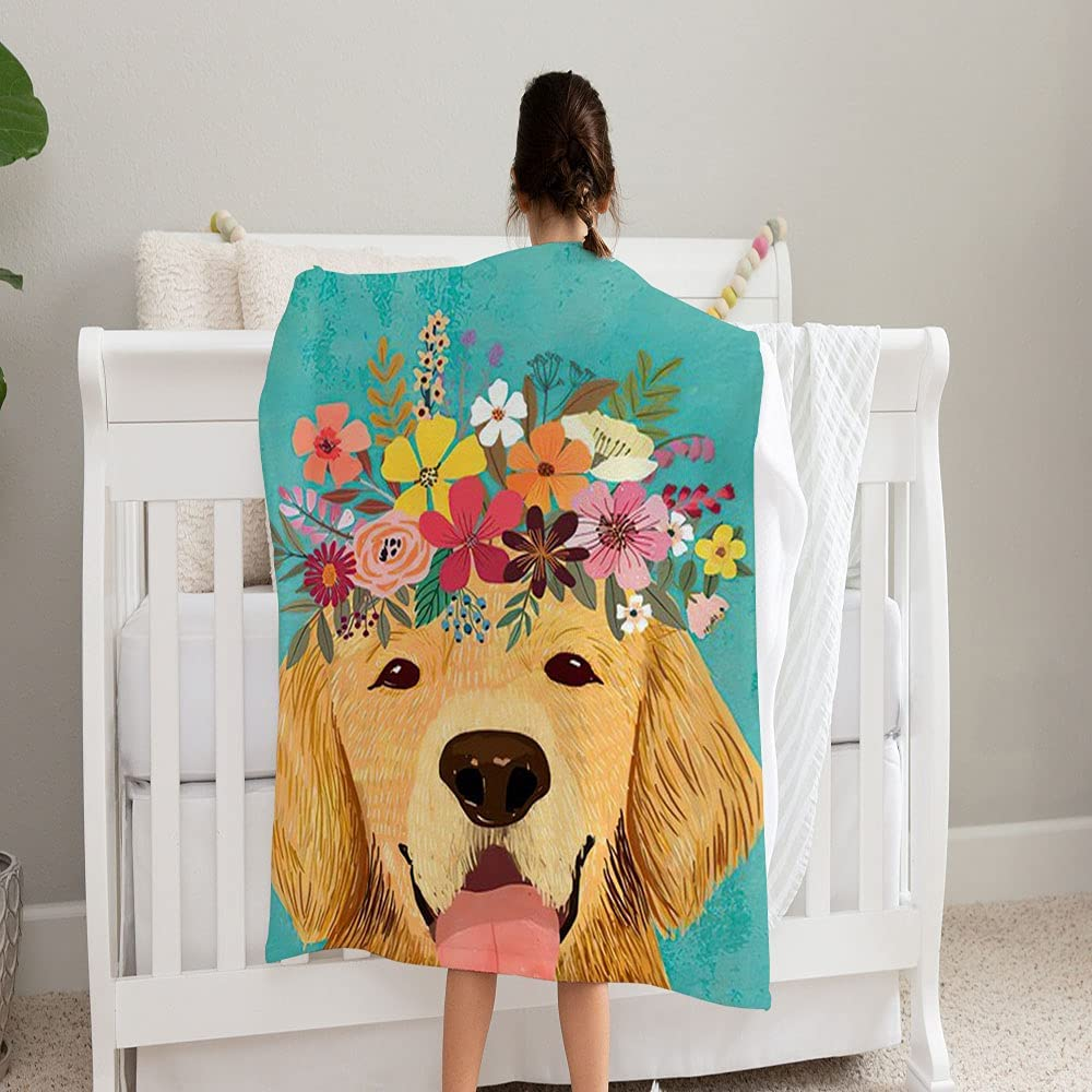 LPVLUX Golden Retriever Dog with Floral Coz Crown Soft Super and Limited price sale Ranking integrated 1st place