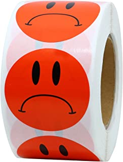 Hybsk Red Sad Face Frowned Unhappy Stickers 1.5