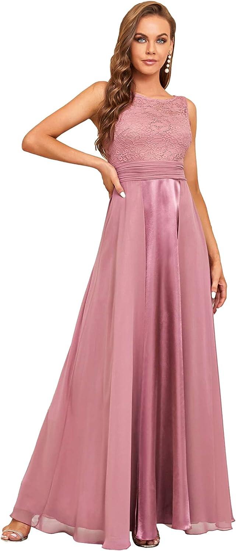 Ever-Pretty Women's Vintage A-Line Floral Lace Wedding Guest Dress Evening Formal Dress 7695