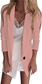 Opinionated Women's Long Sleeve Open Front Cardigan Casual Work Office Blazer Jacket with Pockets