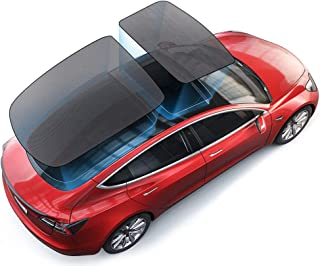 AUTOPRE MODIFY Model 3 Glass Roof Sunshade, Sunroof Overhead Roof Rear Window Sunshade Custom-Fit for Tesla Model 3, Pack of 2 (Top Roof+ Rear)