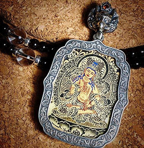QWX Buda Colgante Adorno Talismán para Mujer Colgante Thangka Joyas Artículos Preciosos Un Amuleto simbólico Adecuado para budistas, Vajrasattva