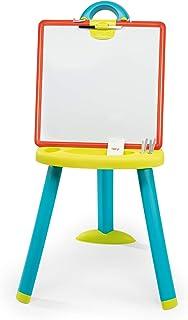 Smoby - Tableau Plastique - Double Face Blanche Magnétique + Ardoise Craie - Pliable - pour Enfant Dès 3 Ans - 410623