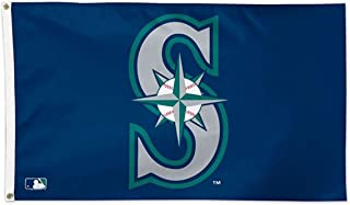 WinCraft MLB Seattle Mariners 01791115 Deluxe Flag, 3' x 5'