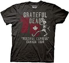 Ripple Junction Grateful Dead Adult Unisex Express Tour 1970 Canada Light Weight 100% Cotton Crew T-Shirt MD Coal