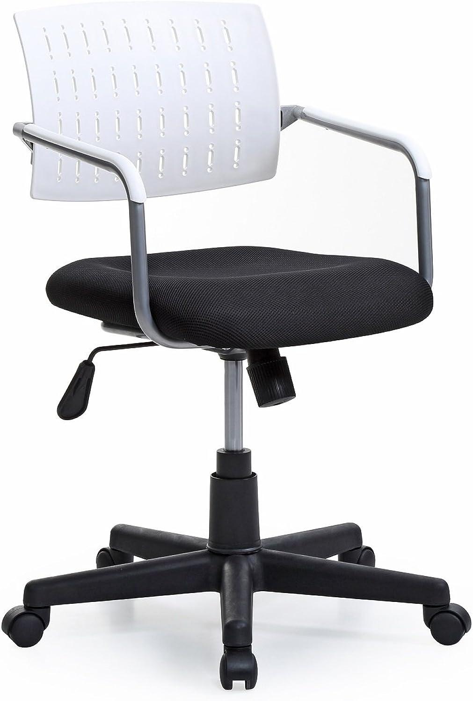Hodedah HI-227 White Import Office Chair, Black White