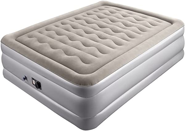 Sable Air Mattress Full Size XL With Built In Pump Blow Up Inflatable Airbed With A Storage Bag Height 19