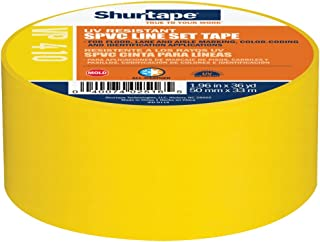 Shurtape VP 410 Colored Line Set and Marking Tape, For Floor/Lane Marking or Color-Coding, Meets OSHA Color-Coding, Yellow...