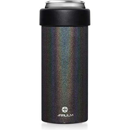 Aqua JIVILILM Vacuum Insulated Can Cooler for 12 OZ Slim Cans Double walled Stainless Steel Beer//Soda//Beverage//Energy Drinks Skinny Cans Keeper