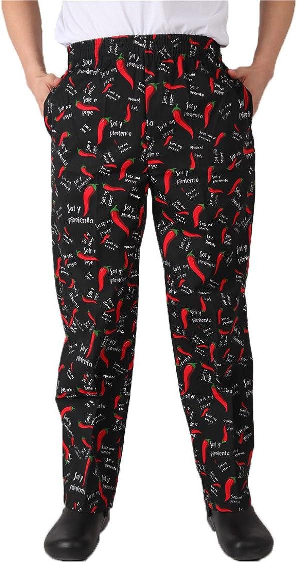 Pepper Chef Uniforms Kitchen Work Chef Pants XXS-2XL Size