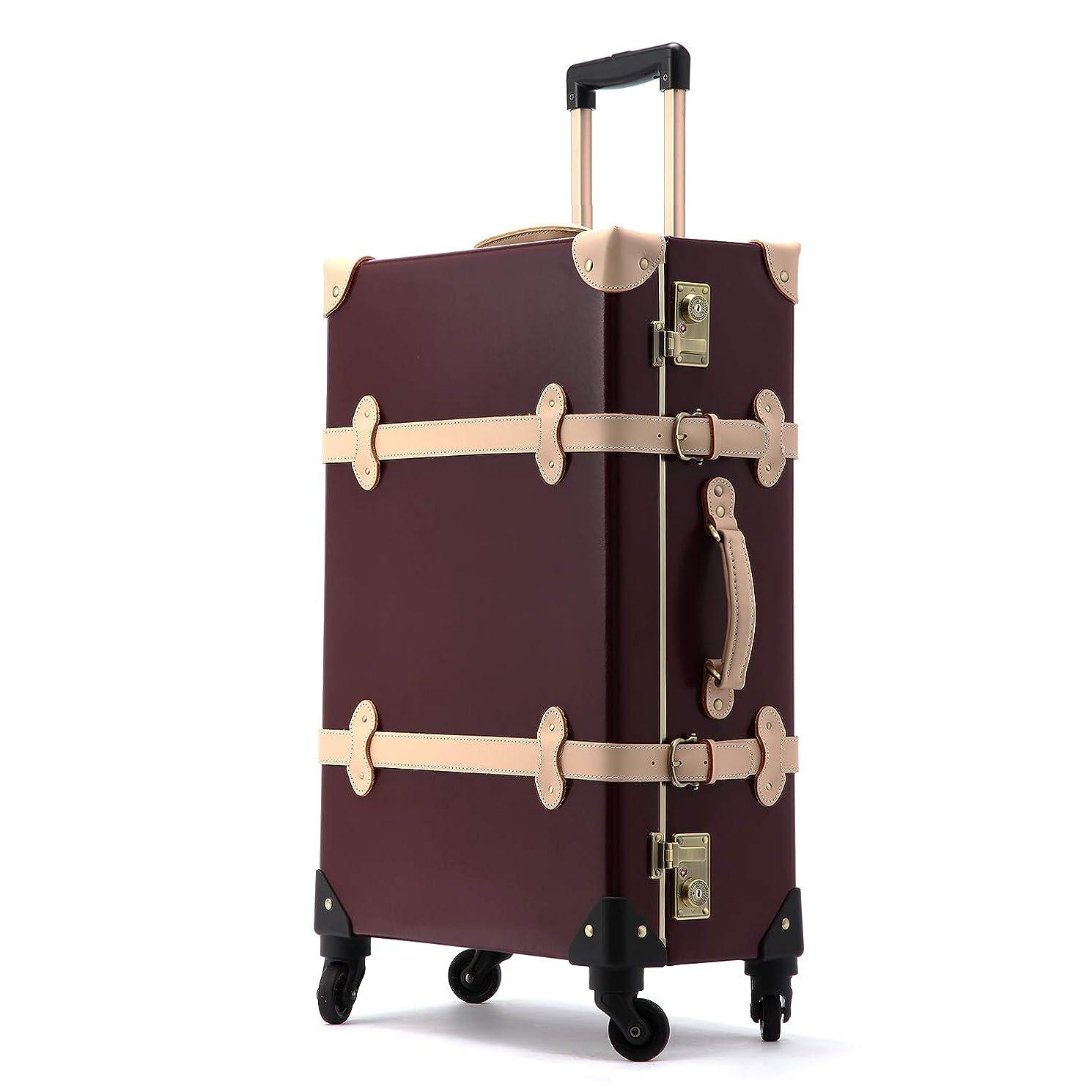 おばあさん従順胆嚢Uniwalker スーツケース 天然牛革 無染色 キャリーケース TSAロック トランク 旅行 出張 キャリーバッグ 軽量丈夫 静音 S型 機内持ち込み