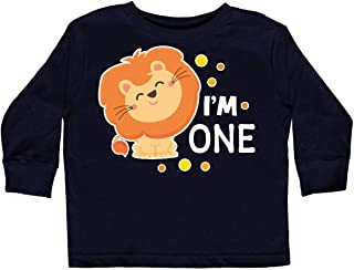inktastic Im 1 with Cute Smiling Lion Toddler Long Sleeve T-Shirt