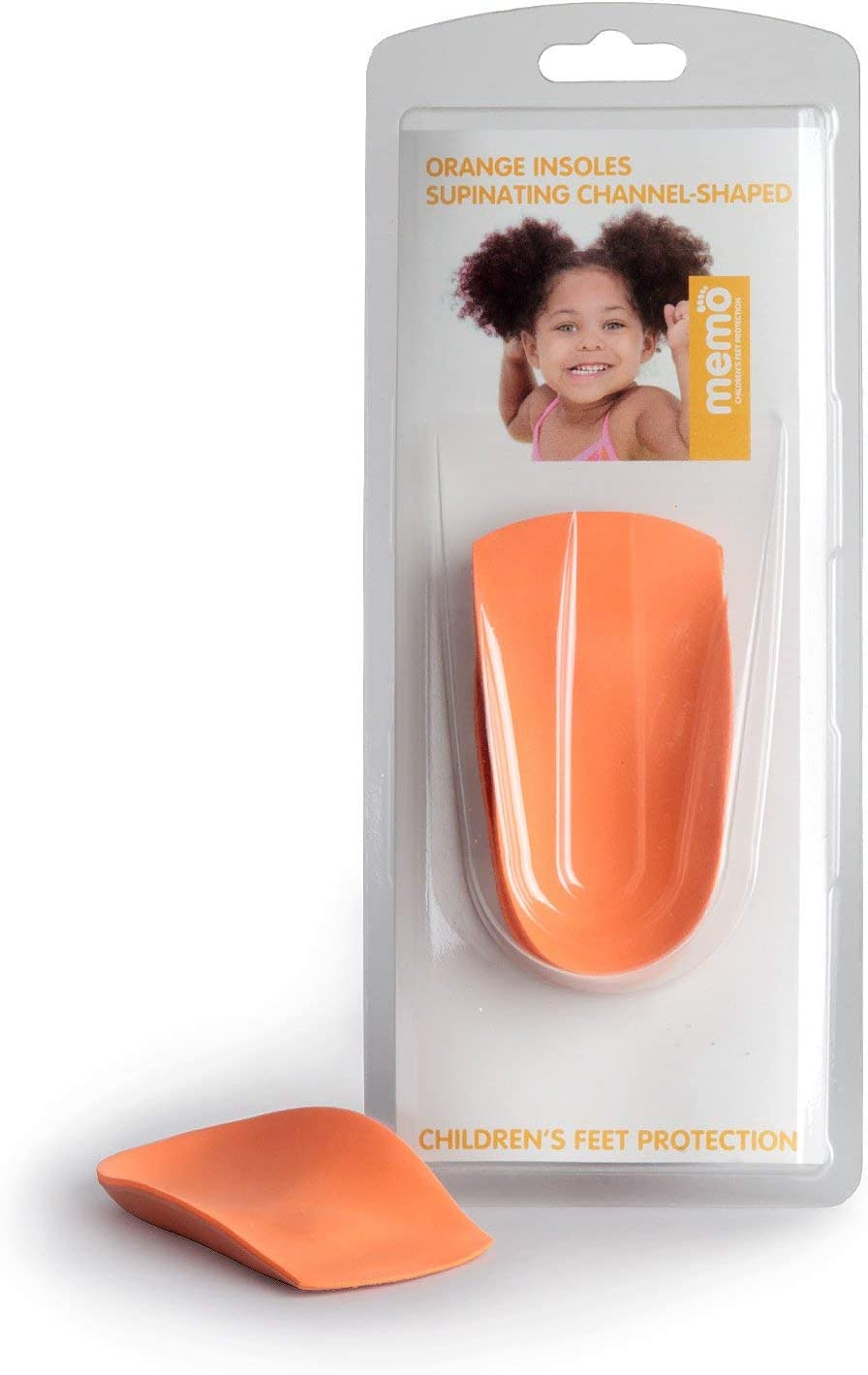 Memo 3 4 Length Orange Arch 25-27 Toddler Insoles Deluxe Support Cheap super special price 9