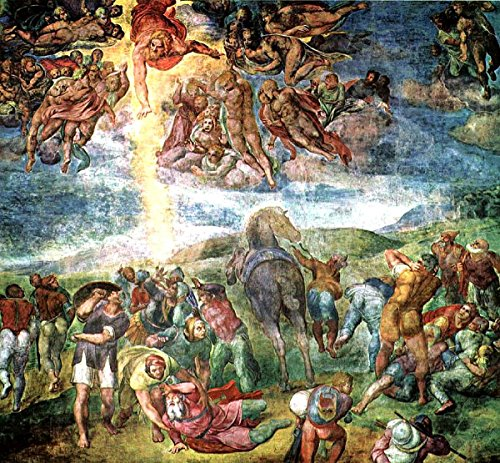 Gifts Delight Laminated 25x24 Poster Conversion of Saint Paul Michelangelo Buonarroti