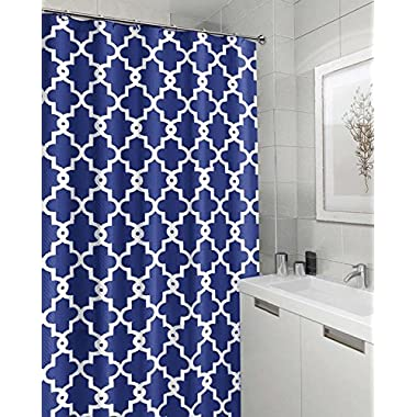 Moldiy Geometric Patterned Shower Curtain 72  x 72  - BULE