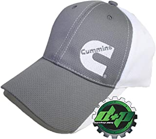 7bbc54be Cummins Base Ball Cap Hat Diesel Gear Dodge Baseball Poly Mesh Gray White