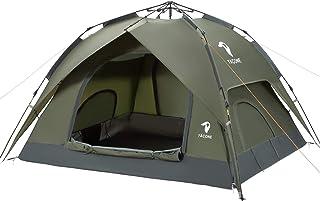 YACONE テント 3~4人用 ワンタッチテント 二重層 2WAY ワンタッチ 設営簡単 コンパクト uvカット加工 折りたたみ 防災用 キャンプ用品 アウトドア