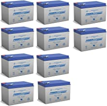 BATTERY REPLACEMENT for POWER-SONIC PS-12120F2 PS-12120 F2,12V 12AH EA. - 10 Pack