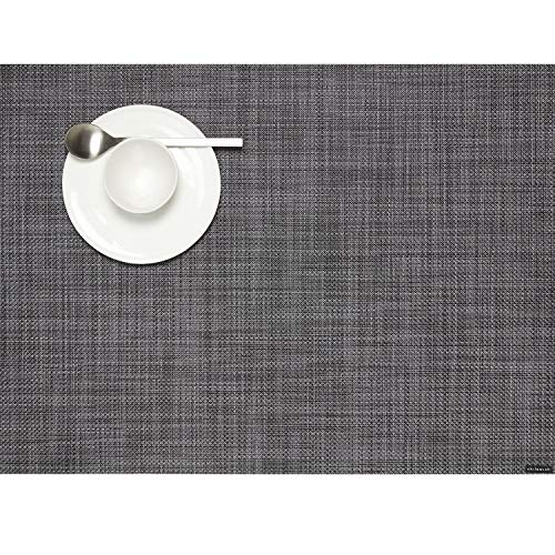 Chilewich Tischset Mini Basketweave Rectangle Cool Grey