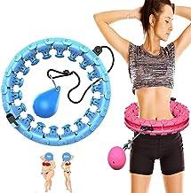 Tiyabdz Auto-spinnend hoepel,slimme tellen HOOLA-lus,efficiënt gewichtsverlies met 360 graden massage voor mannen en vrouw...