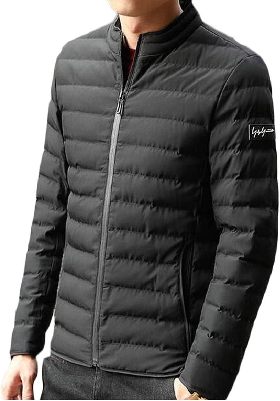 19a657e74d QD-CACA Men Men Men Warm Stand Collar Slim Lightweight Down Puffer Jacket  Coat 42c6c9