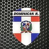 Dominican Republic Flag Shield Proud Domed Decal Emblem Car Sticker 3D 2.3'x 3' Caribean, Santo Domingo, Punta Cana, Santiago, Dominicana