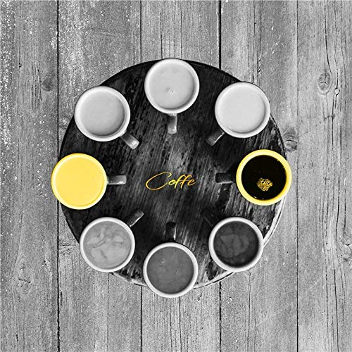 JHGJHK Taza de café Amarilla Estilo nórdico Pintura al óleo impresión Arte Dulce decoración del hogar Arte Pintura Restaurante decoración (Imagen 1)