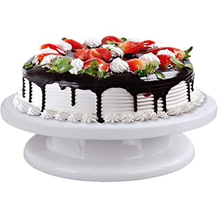 28cm Rotating Cake Icing Deocrating Revolving Kitchen Stand Turntable Tool