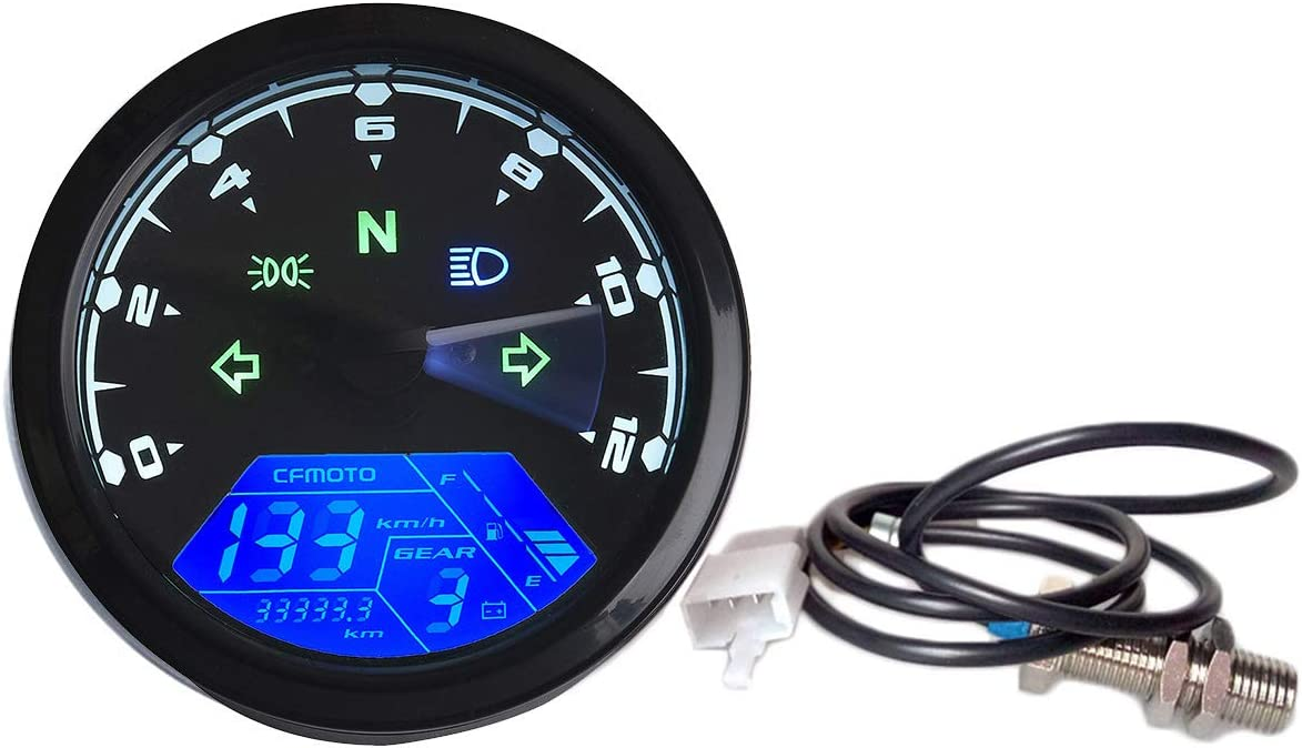 Jinxuny 12000rpm KMH Limited time cheap sale MPH LCD Odom Digital Brand new Motorcycle Speedometer