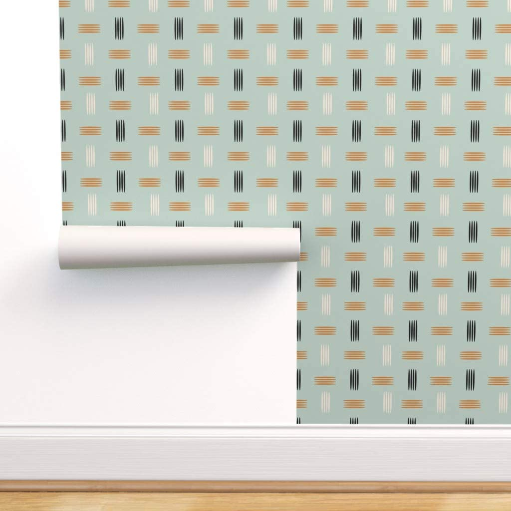 Spoonflower Peel and Stick Removable Max 78% OFF Mid Mode Century Clearance SALE Limited time Wallpaper