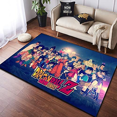 Alfombra Sala De Estar Área del Dormitorio De Los Niños Rectángulo Dibujos Animados Dragon Ball Anime Estera De La Puerta Sofá Mesita De Noche Mesa De Centro Entrada Lavable