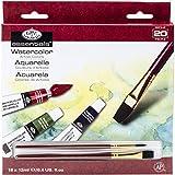 Royal & Langnickel WAT18 - Pack de 18 tubos de pintura para acuarela (12 ml, 2 pinceles), multicolor