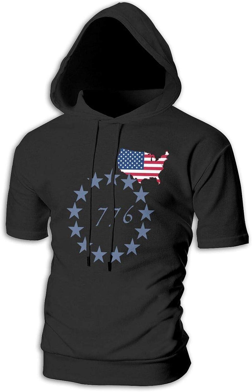 Betsy Ross USA 流行のアイテム 13 Star 1776 Men Hoodie Flag Athletic 税込 Pul Fashion