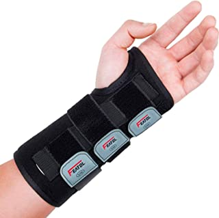 Wrist Brace for Carpal Tunnel, Adjustable Wrist Support Brace with Splints Left Hand, Medium/Large, Arm Com...