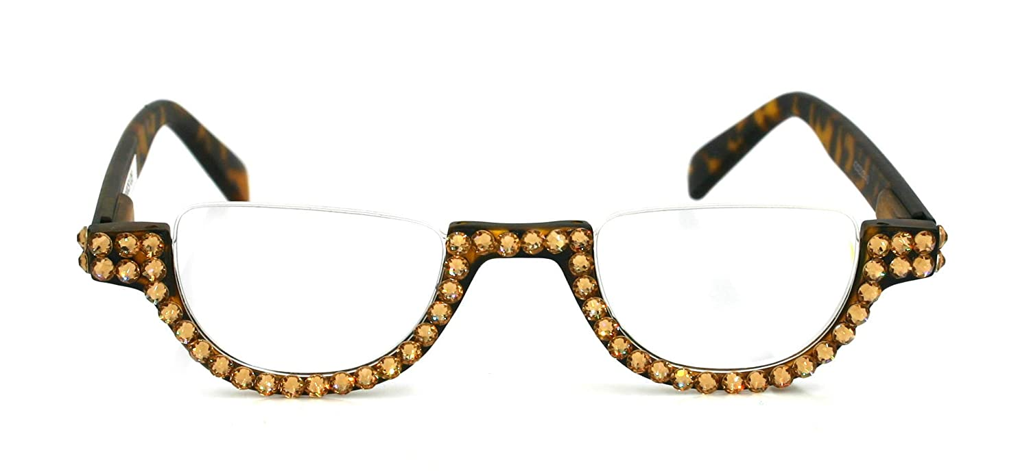 The Translated Half Moon Crystal Bling Women Adorned with Reading Glasses At the price of surprise