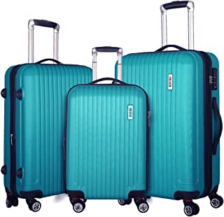 Fochier 3 piece Luggage Set Expandable Lightweight Spinner Suitcase with TSA Lock