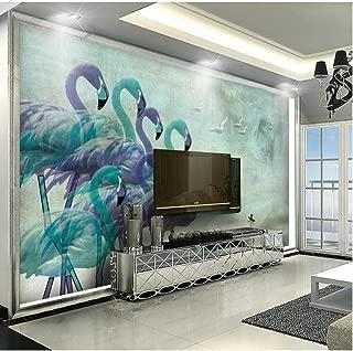 flamingo bedroom wallpaper
