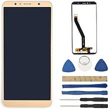 Gold ATU-LX3 LCD Display Touch Digitizer Screen Assembly with Adhesive Replacement for Huawei Y6 2018 ATU-L11 ATU-L21 ATU-L22